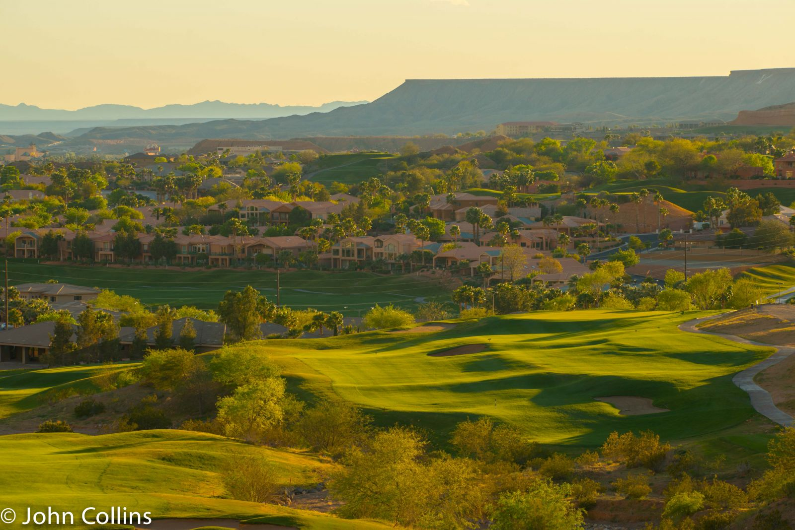 Aerial view of Oasis Golf Club in Mesquite
